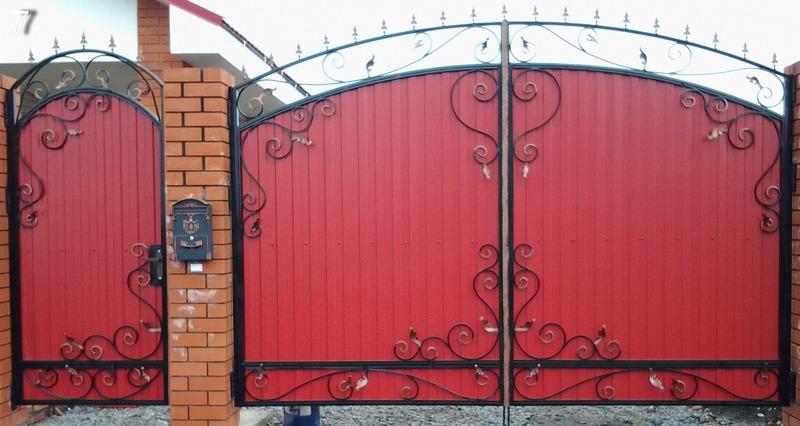 Ворота изпрофнастила могут быть красивыми