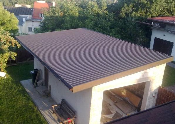 Односкатная крыша гаража своими руками фото