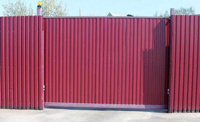 Раздвижные ворота изпрофнастила